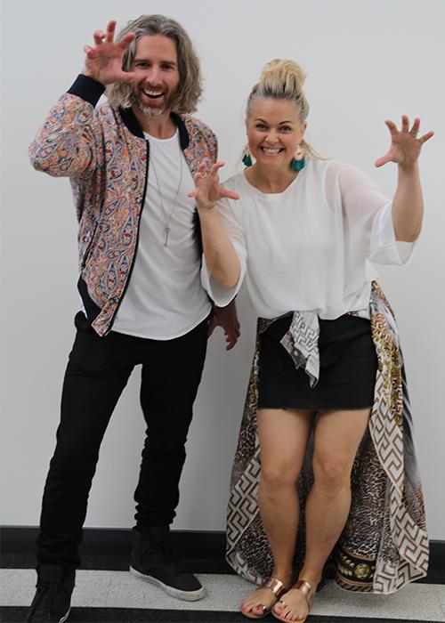 Taryn Brumfitt & Glenn Mackintosh tiger pose